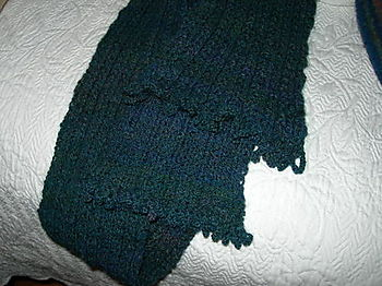 Harlot Handspun Scarf Gets A New Edging