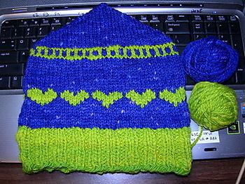 Handspun, Hand-Dyed, Handknit Hat