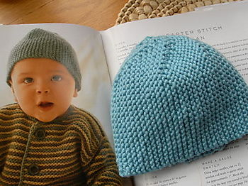 Garter Stitch Cloche Infant Hat