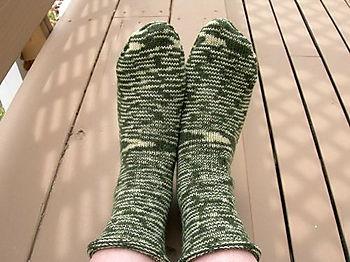 Roll-Top Stockinette Socks