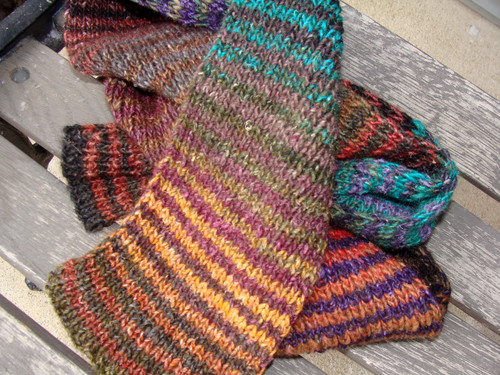 Striped Noro Silk Garden Scarf