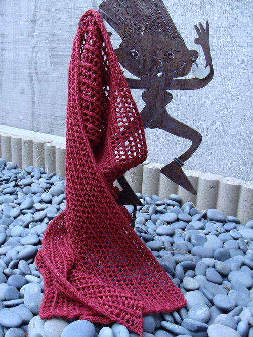 Red Scarf Finished In Utah