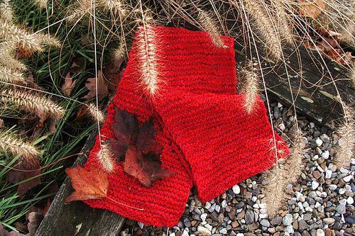 Ann Shaefer garter scarf