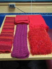 5 Scarves From Prince William Purlers Knitting Guild, Manassas, VA
