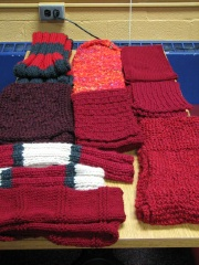 9 Scarves From Prince William Purlers Knitting Guild, Manassas, VA